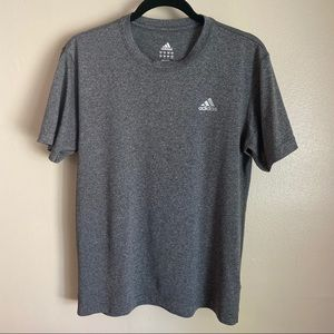 Adidas athletic tee in heather gray, M